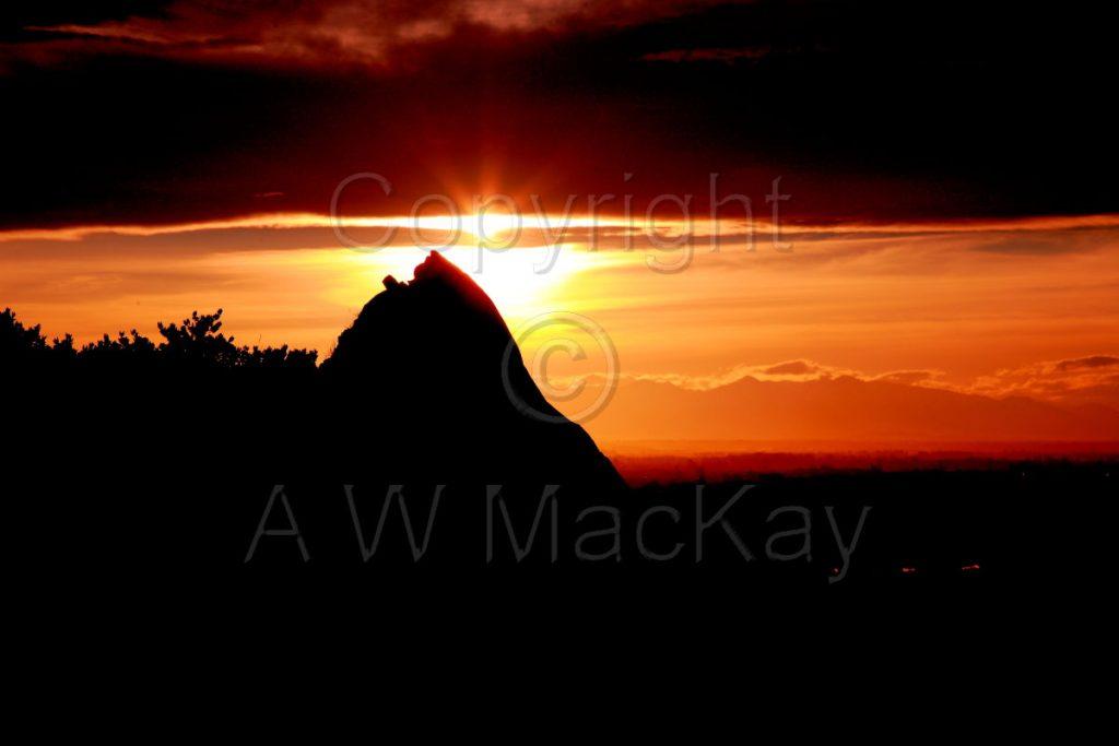Rocky Sunburst Halswell Quarry Park Canterbury New Zealand