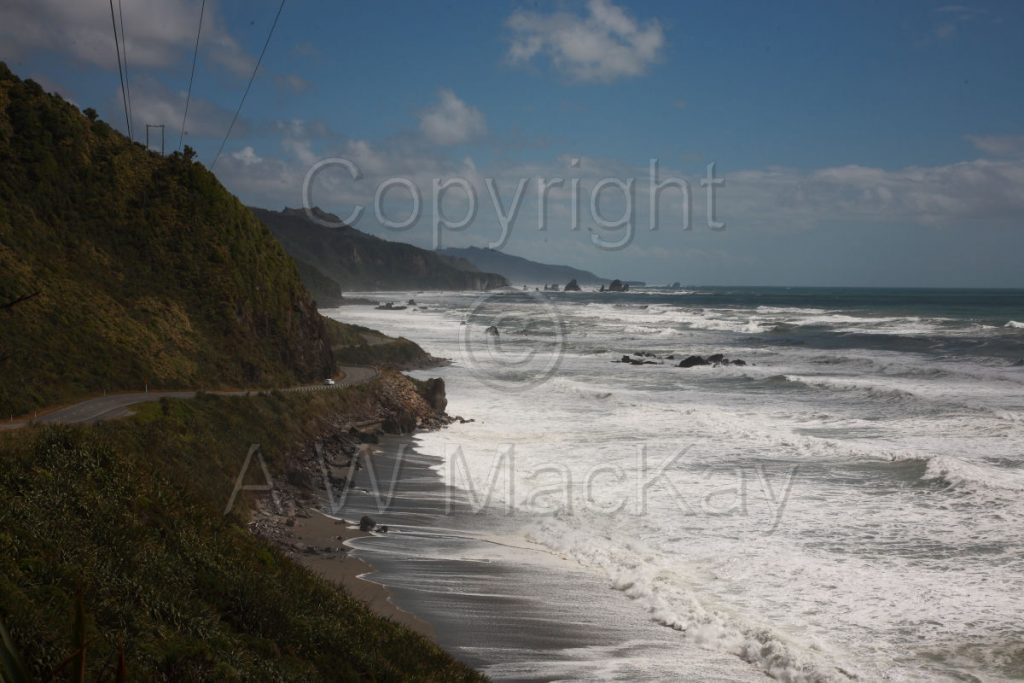 South from 17 Mile Bluff - Coast Road - SH 6 North of Greymouth - West Coast