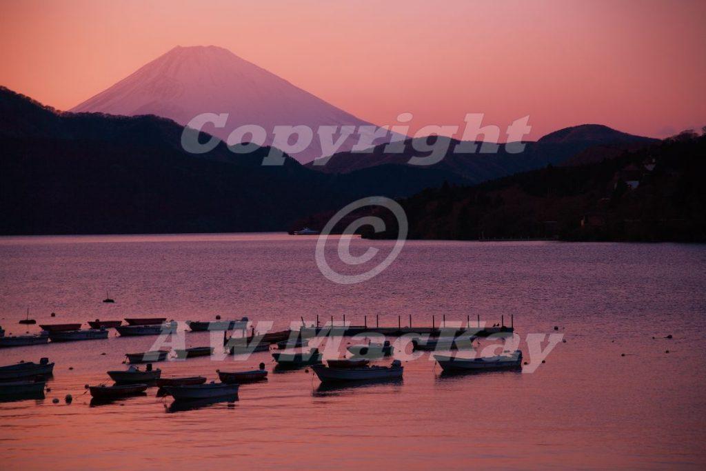 Ashino-ko to Fuji-San Yuugure (Ashino Lake and Fuji San Dusk)
