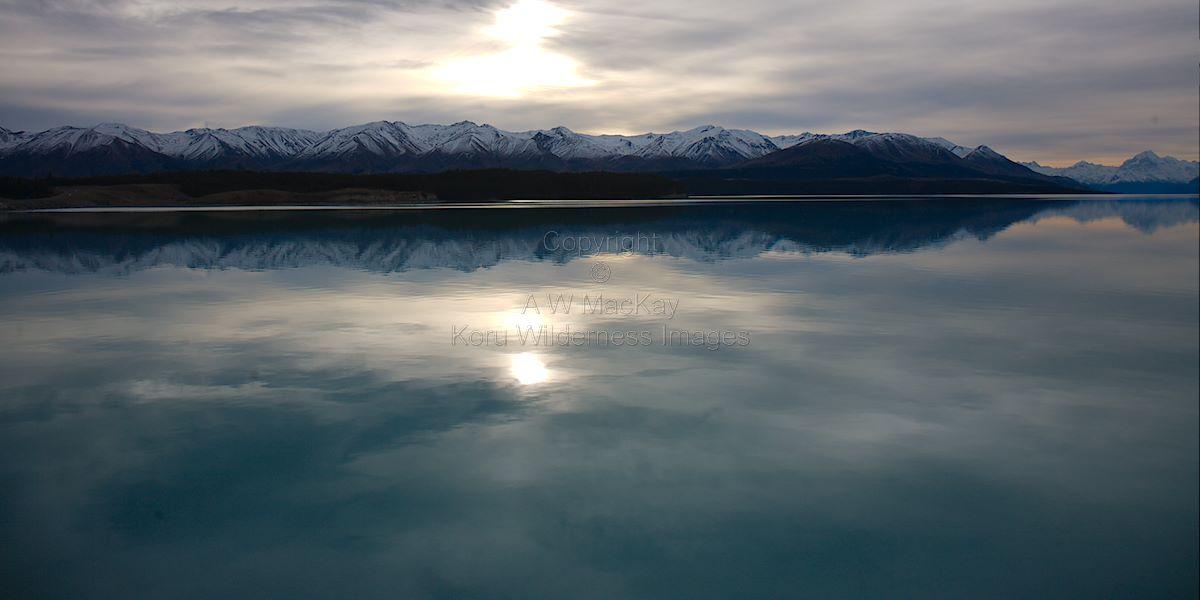 Pukaki Reflects the Ben Ohau Range