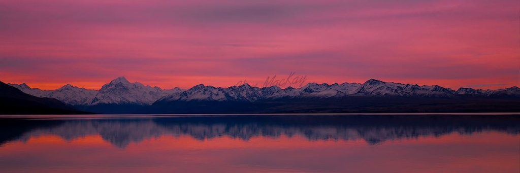 Lake Pukaki Dusk - Panorama